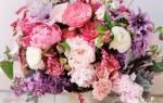 Букет невесты: розово-голубой, сиренево-розовый, бело-розовые