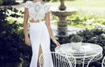 Cвадебное платье кроп топ — топ и юбка отдельно