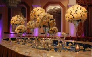 Вазы на столы на свадьбу: идеи свадебного декора[]