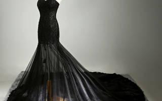 Черное свадебное платье — можно ли одевать на свадьбу