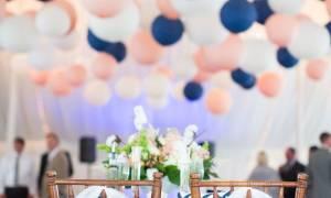 Свадьба сине-оранжевая, персиково, зелено-синяя, сине-малиновая