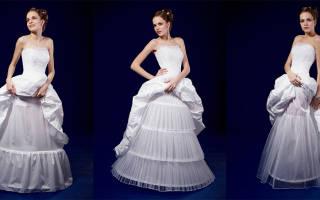 Подъюбник для свадебного платья с кольцами и без