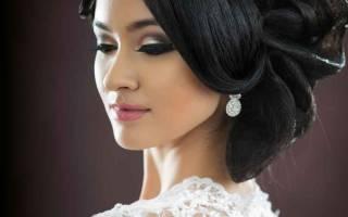 Свадебные прически на средние волосы с диадемой