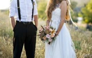 Свадьба в стиле бохо — богемный декор, платье, букет, аксессуары
