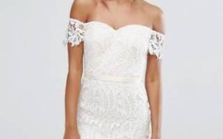 Короткие свадебные платья — кружевные, обтягивающие, пышные