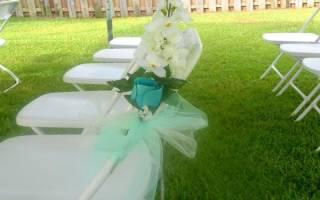 Банты на стулья на свадьбу: как завязать своими руками