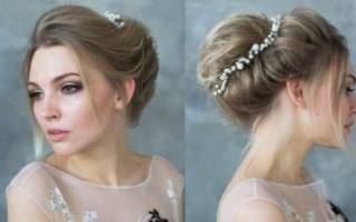 Высокие прически на свадьбу на средние, длинные, короткие волосы