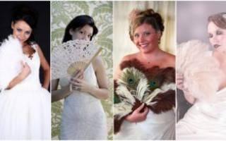 Свадебный веер для невесты своими руками — мастер-класс