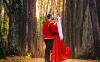 Свадьба в славянском стиле — оформление, аксессуары, образы