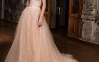 Персиковое свадебное платье — модные тренды
