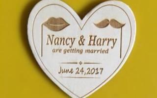 Приглашения на свадьбу: деревянные, резные из фанеры