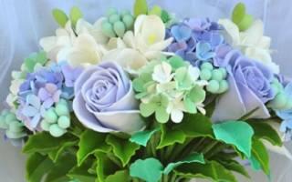 Свадебные букеты из полимерной глины — мастер-класс