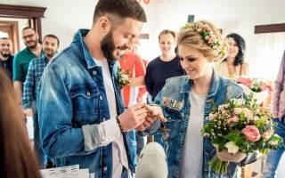 Джинсовая свадьба — образы невесты и жениха, зала, аксессуары