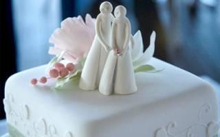 Свадебные торты из мастики: модные тенденции