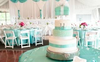 Свадьба в стиле Тиффани — оформление, цвет, одежда