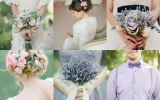 Оформление свадьбы в цвете — лавандовом, лиловом, айвори