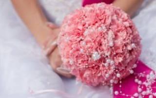 Свадебный букет невесты из гвоздик своими руками
