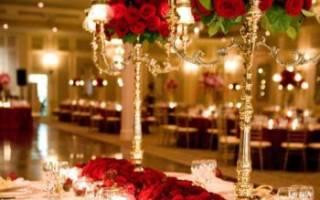 Свадьба в красном стиле: декор зала и аксессуары