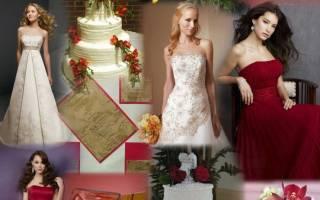 Свадьба в красных цветах — идеи оформления зала, букета, невесты