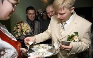 Сценарий выкупа невесты в стихах — интересный и смешной