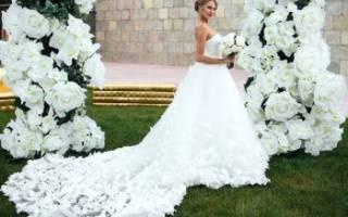 Свадебное платье с бабочками — фото и видеообзор