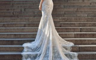 Свадебные платья — приталенные, узкие, обтягивающие