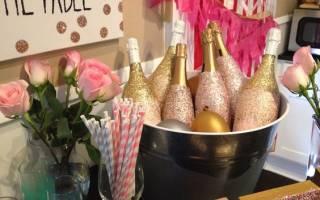 Как покрасить бутылку шампанского на свадьбу своими руками