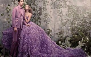 Свадебное платье — фиолетовое, лавандовое, лиловое