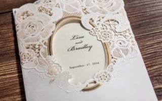 Приглашения на свадьбу своими руками — белые и черно-белые