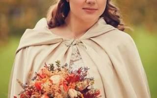 Осенний букет невесты для свадьбы в сентябре, октябре, ноябре