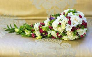 Каскадный букет невесты своими руками — мастер-класс