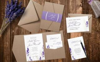 Приглашения на свадьбу в стиле прованс своими руками
