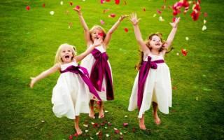 Интересные и веселые конкурсы для детей на свадьбе