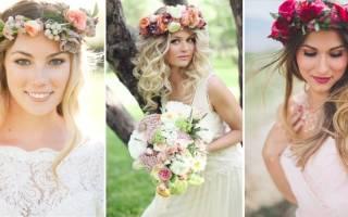 Свадебные венки на голову — обзор и мастер-класс