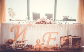 Композиции на стол молодоженов — как сделать украшения из цветов