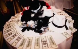 Свадьба в стиле гангстеров, мафии — декор, платье, аксессуары