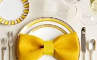 Салфетки на свадебный стол — как сделать фигуры своими руками