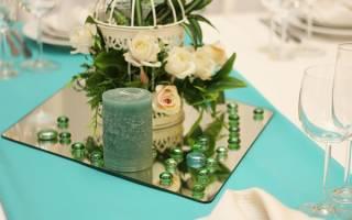 Мятная свадьба — идеи оформления зала, образ молодых