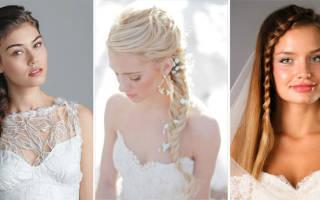 Свадебная прическа с косой — фото и видео обзор