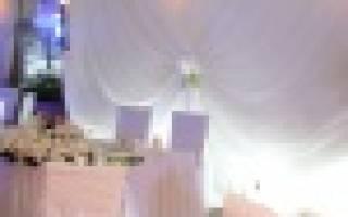 Оформление свадьбы тканью — декор зала, потолка, стен,