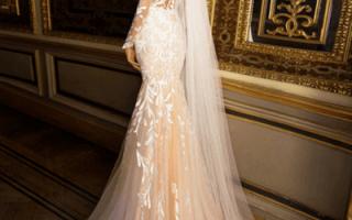 Свадебное платье цвета шампань — фото и видео обзор