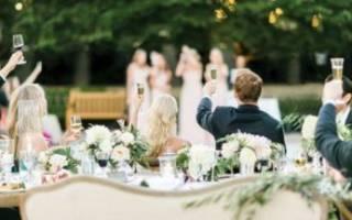 Меню для свадебного стола — что должно быть на банкете в кафе