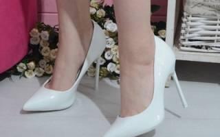 Свадебные туфли на высоком каблуке — лодочки, на шпильке