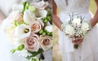 Маленький свадебный букет для невесты — обзор самых креативных