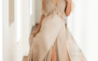Бежевое свадебное платье — фото и видео обзор