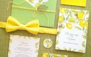Свадьба в желто-зеленом цвете — идеи по оформлению