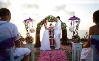Сценарий свадьбы — европейской, классической, камерной
