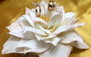 Подставка для колец на свадьбу своими руками