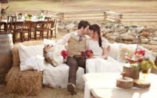 Стиль рустик: аксессуары для оформления свадебного зала