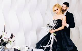 Черно-белая свадьба — оформление, платье, аксессуары